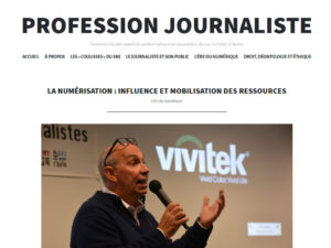 Site web Profession journalisme étudiant DUT journalisme 1996