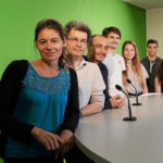 Les etudians et enseignants d'infocom dans le studio de télévision© Le Télégramme