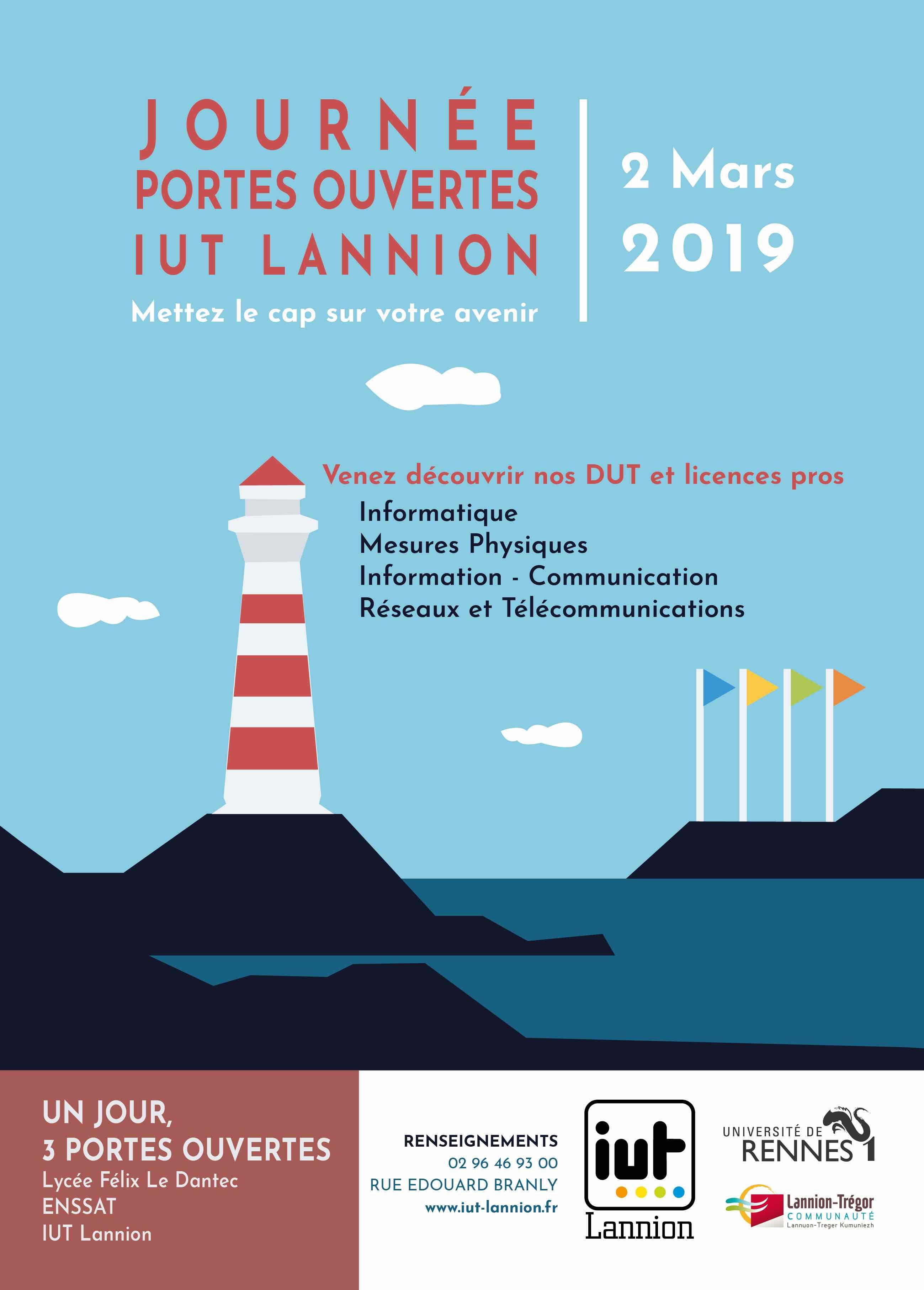 JPO le 2 mars 2019 à l'IUT de Lannion